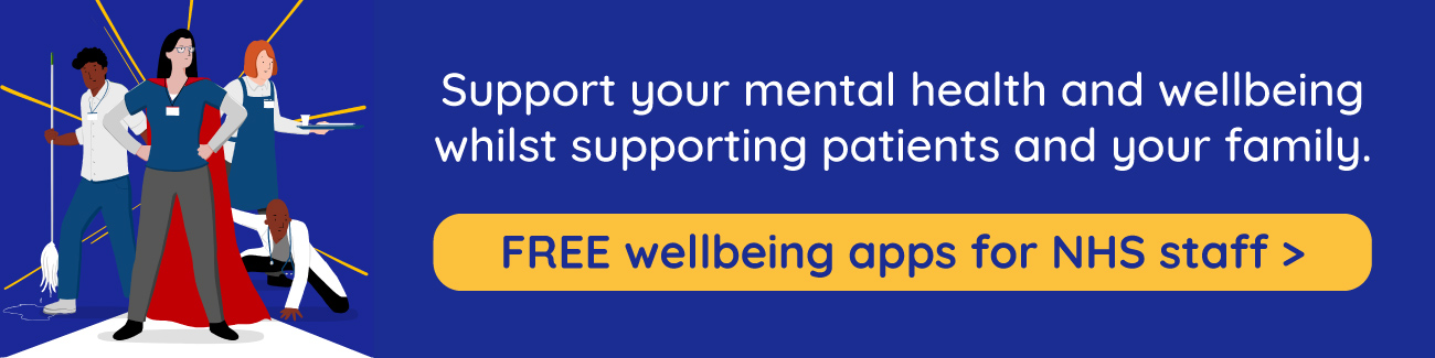 FREE access to wel-being apps for all NHS staff